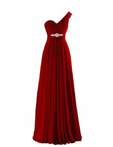Prom VaniaDress Women One Shoulder Chiffon Long Prom