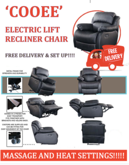 NEW HEAT and MASSAGE Electric Recliner Lift Chair