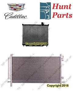 Cadillac AC compressor Condenser Radiator Support Fan Cooling Compresseur AC Condenseur Radiateur Support Ventilateur