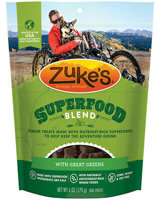Zuke's SuperFood Blend with Great Greens Dog Treats, 6oz Pouch