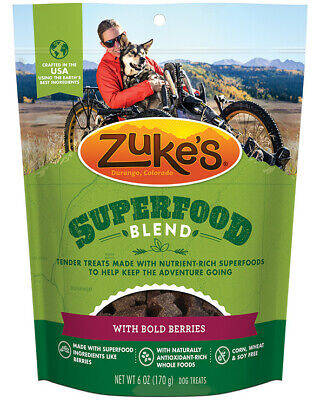 Zuke's SuperFood Blend with Bold Berries Dog Treats, 6oz Pouch