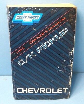 95 1995 Chevrolet C/K Pickup owners manual
