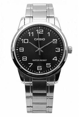 Casio Men's Analog Quartz Water Resistant Stainless Steel Watch MTPV001D-1B New Casio Analog Water