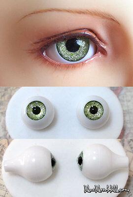 12mm acrylic bjd doll eyes glitter green tea full eyeball dollfie AE-45 ship US