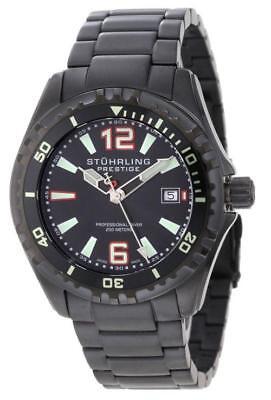 Stuhrling Prestige 382 335B1 Regatta Captain Swiss Made Black Mens Watch