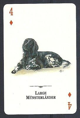 Single Tomas Markevicius Art Dog Playing Card Natural World LARGE MUNSTERLANDER