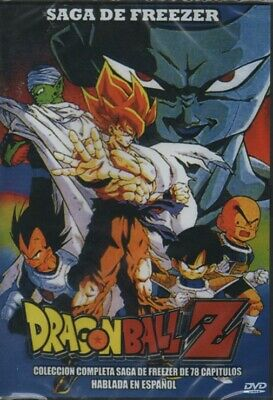 DRAGON BALL Z DVD LA SAGA DE FREEZER Español Latinio SPANISH 78 EPISODIOS NEW