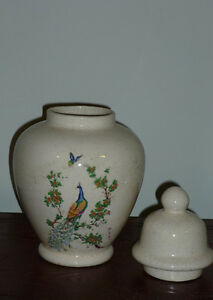 Ginger Jar with Peacock Motif ..Excellent Condition Cambridge Kitchener Area image 2