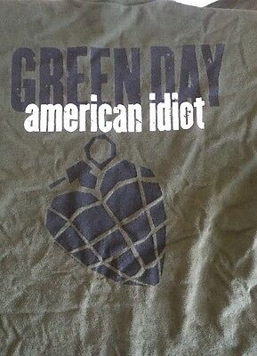 Green Day American Idiot T Shirt Medium Short sleeve Green Concert Tour