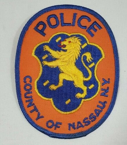 NASSAU COUNTY NEW YORK NY POLICE SHOULDER PATCH - NEW UNSEWN -