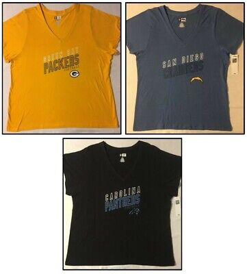 NFL Women Plus Size Tee Carolina Panthers Green Bay Packers San Diego Chargers ()