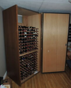 Wine cabinet — holds more than 360 bottles