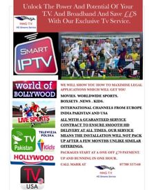 GET 1000s OF TV CHANNELS WITH FULL SERVICE BACK UP AND SAVE £££s