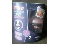 Nuby bottles BRAND NEW IN BOX colic reflux baby pink