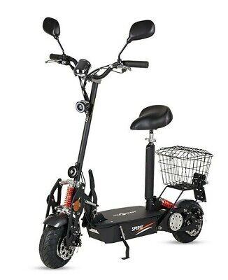 Patinete electrico Spirit 1000w 35km/h scooter plataforma matriculable negro