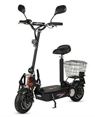 Patinete electrico Spirit Plus 1800w 45km/h scooter sillin matriculable negro