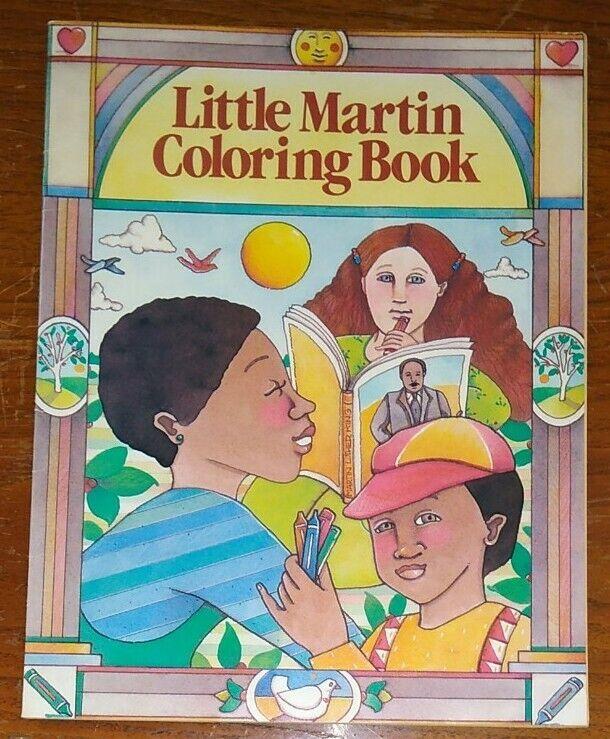 "Rare 1986 MLK MARTIN LUTHER KING JR ""Little Martin"" Coloring Book ~ Near MINT!"