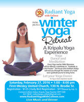 Radiant Yoga with Colleen Winter 2016 Schedule