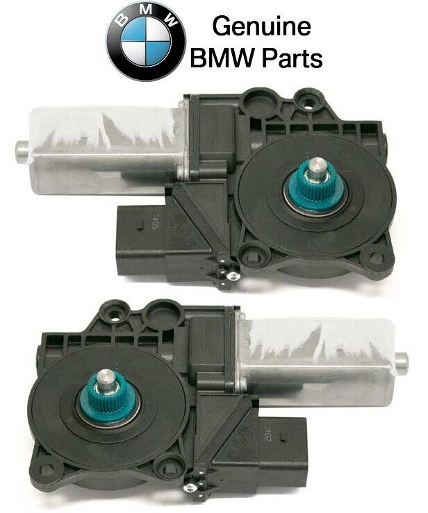 NEW BMW E90 325i E91 Series 3 M3 328i Pair Set of 2 Rear Window Motors Genuine
