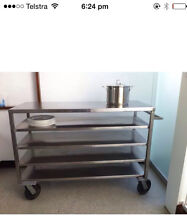 Huge stainless steel trolley perfect for kitchen or workshop Windsor Brisbane North East Preview