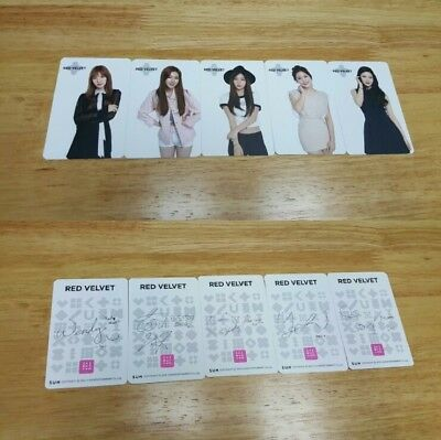 Red Velvet Artium Sum Official Photo Card All Members Rare Limited