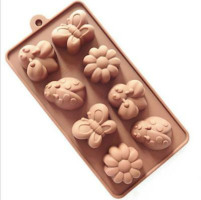 Butterfly Flower ladybug Flower Silicone Soap mold Candy Chocolate Fondant mould