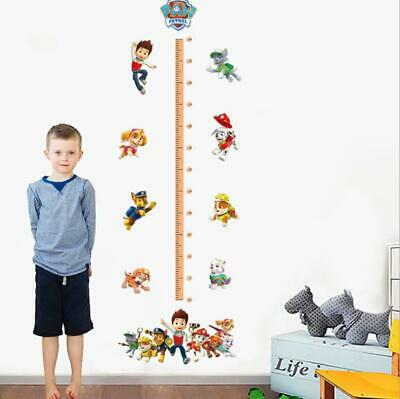 US 3D Wall Stickers Height Chart Paw Patrol Kids Room Decal Wallpaper - Paw Patrol Wall Decals