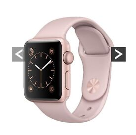 Brand new apple I watch series one rose gold worn once reset good working condition