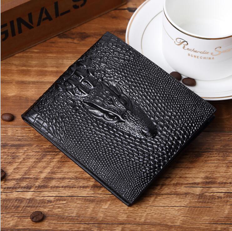 NEW embossing 3D Crocodile Head Short Wallet Men Purses PU Leather Men's Wallets Clothing, Shoes & Accessories