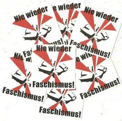 25x Nie wieder Faschismus Aufkleber stickers Antifa Gegen Nazis AFA Punk GNWP