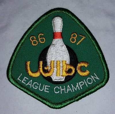 86-87 WIBC League Champion Embroidered Bowling Patch FREE SHIPPING