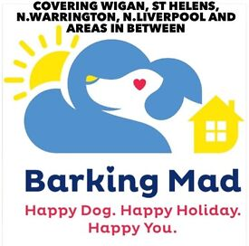St. Helens Volunteers to help look after other people's dogs in your home with Barking Mad Dog Care