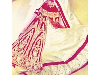 Beautiful red velvet and gold asian bridal dress