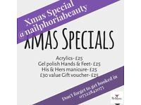 Christmas Specials on Nail Services & Gift vouchers