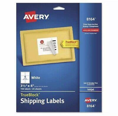 Avery Shipping Labels W Trueblock Technology 3-13 X 4 White 150pack Pk