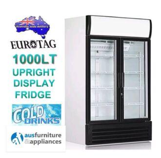 1000 ltr Commercial Drink Display Fridge -Eurotag