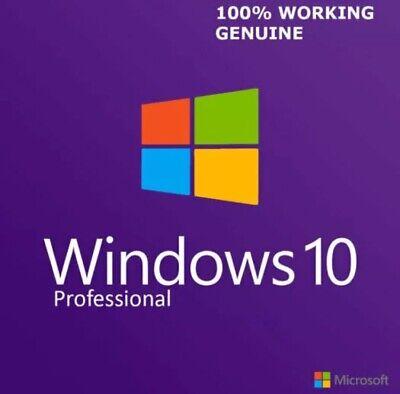 ✅GENUINE WINDOWS 10 PROFESSIONAL PRO KEY 32 / 64BIT ACTIVATION CODE LICENSE KEY