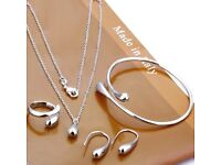Silver plated jewellery set - New