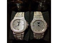 New AP Audemars Piguet Hublot Cartier Franck Muller iced diamond automatic Patek Phillipe watch