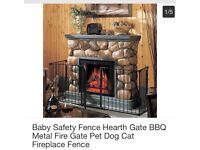 Baby Safety Fence Hearth Gate BBQ Metal Fire Gate Pet Dog Cat Fireplace Fence