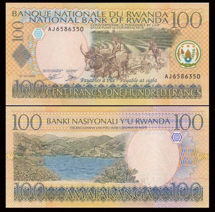 RWANDA 100 Francs, 2003, P-29, UNC World Currency
