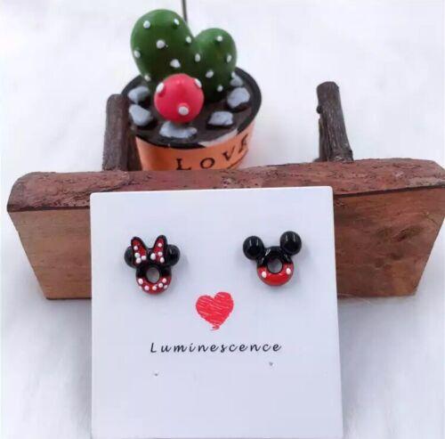 Super Süß ! Disney Ohrring Ohrstecker Disney Land Mickey und Minnie Maus Mouse