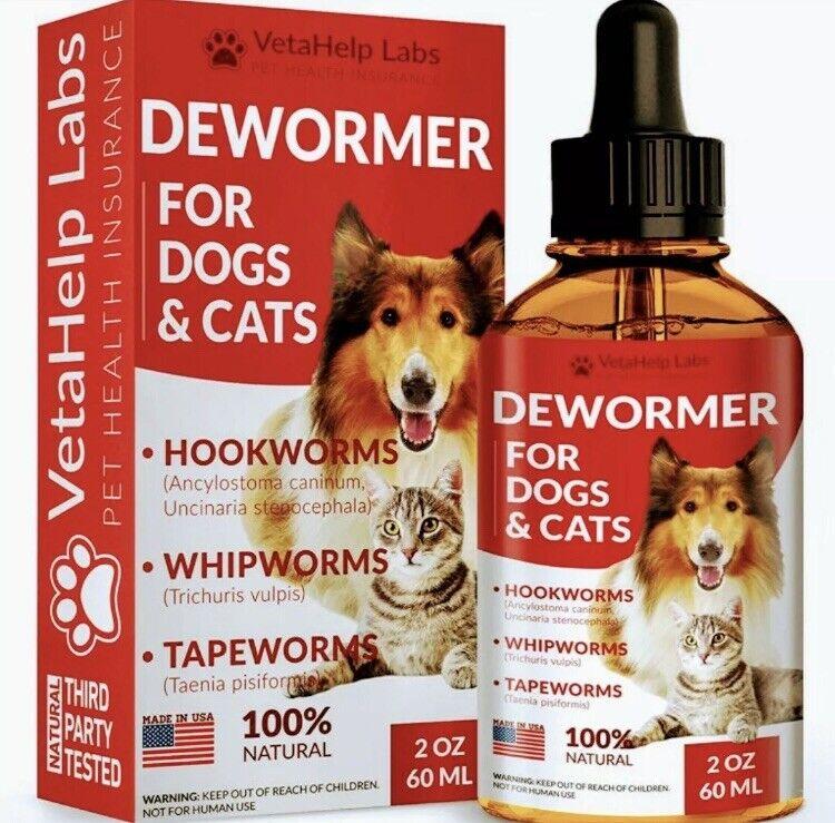 Liquid Pet DEW0RMER Broad Spectrum Treat and Prevent Multiple Parasites New