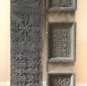 Antique carved Indian decorative panels