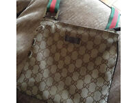 Genuine beige Gucci manbag messenger bag
