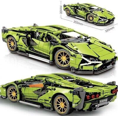 Lamborghini Technic Green Building Blocks-compatible SuperSportsCar 1254Pcs