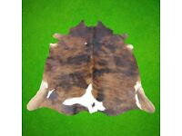 Real cow hide rug, cow hair on leather rug