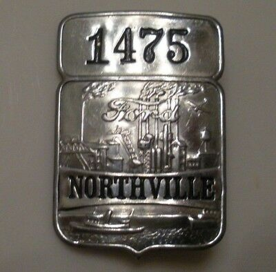 RARE Vintage Ford Employee ID Badge / Pin NORTHVILLE PLANT