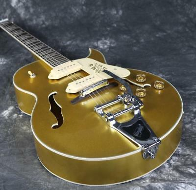 Custom Shop 175 Hollow Body Electric Guitar Gold Hardware Bigsby Bridge P90