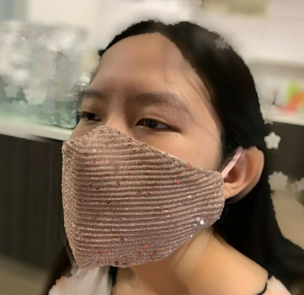 Reusable Washable Glitter Fabric Mask Face Protective Anti Dust Sequins Covering Glam Bling Bling
